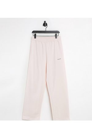adidas Unisex relaxed high waisted trackies in pink co-ord