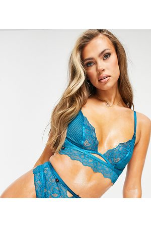 adidas Planet Main Attraction recycled lace and mesh high-waist lingerie thong in teal-Green
