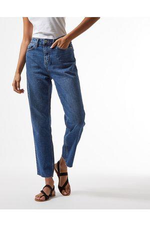 adidas High waist slim leg jeans in indigo wash-Blue