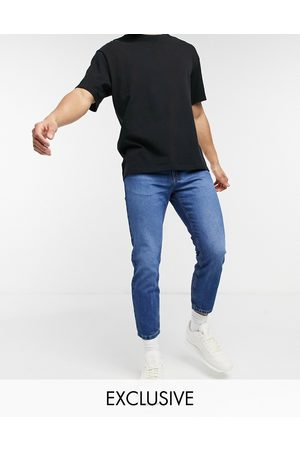 Reclaimed Vintage Inspired the 89' tapered jean in sustainable indigo wash-Blue