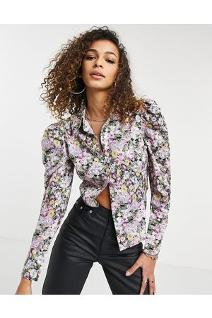 adidas Men Casual - Shirt with puff sleeves in floral print-Multi