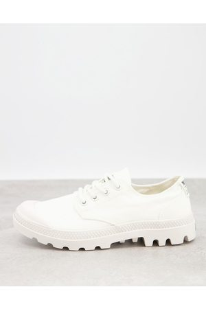 adidas Pampa organic casual lace up trainers in white
