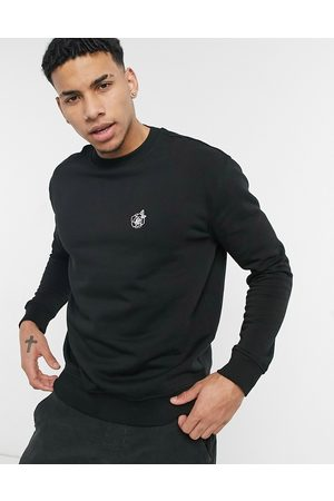 adidas Sweatshirt with rose embroidery in black