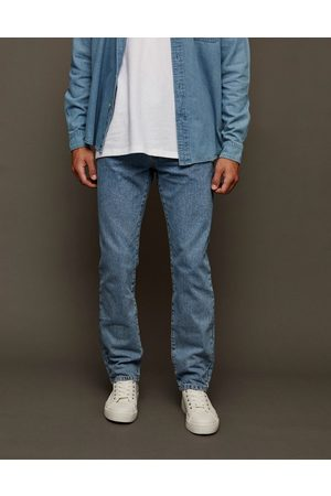 adidas Straight jeans in mid wash-Blue