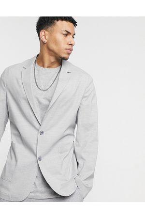 adidas Skinny soft tailored blazer in grey