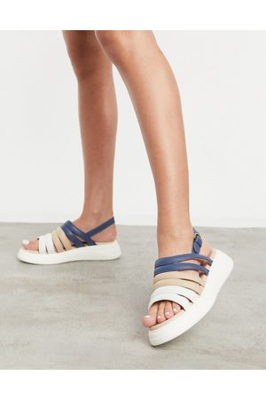 adidas Silvia suede slingback chunky sandals in multi