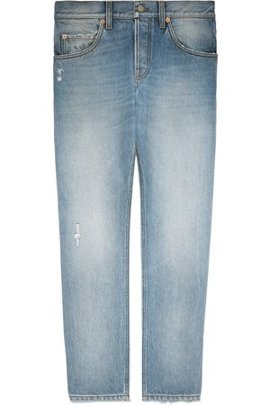adidas Tapered eco bleached denim jeans