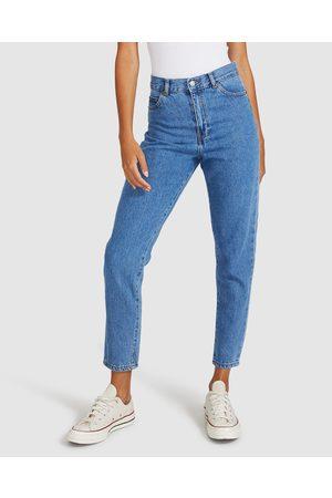 adidas Women Slim - Nora Retro Jeans Sky