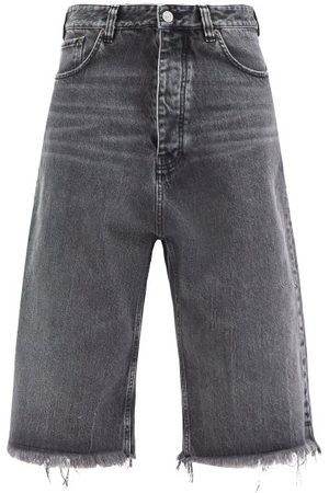 adidas Frayed Cropped Jeans - Womens