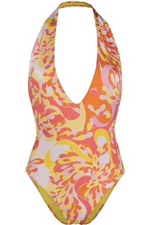 Emilio Pucci Abstract-print one-piece swimsuit