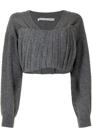 Alexander Wang Gathered front cropped top