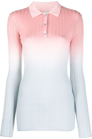 adidas Ombre ribbed polo shirt