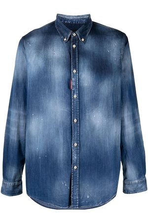 adidas Distressed denim shirt