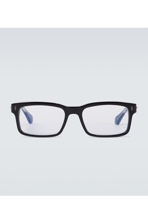adidas Rectangle-frame acetate glasses