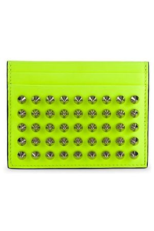 adidas Men Wallets - Studded Neon Leather Card Holder