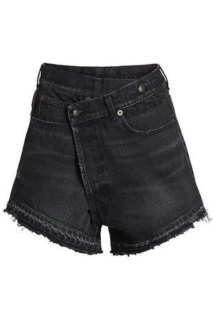 R13 Women Shorts - Crossover Denim Shorts