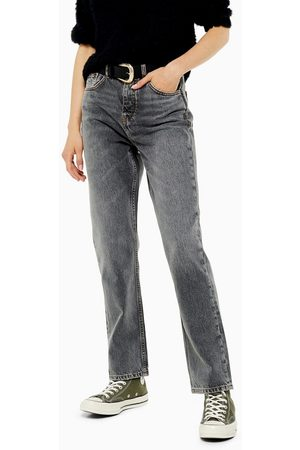 Topshop Editor straight leg jeans in grey