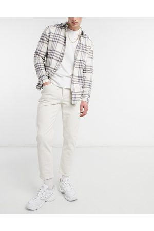 River Island Tapered jeans in ecru-White
