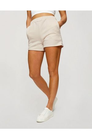 Miss Selfridge Active elastic runner shorts in ecru-Stone