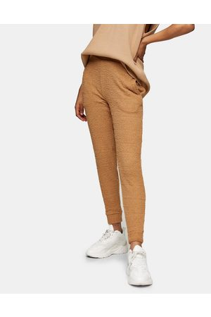 Topshop Fluffy trackies in caramel-Brown