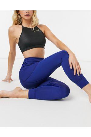 PUMA Studio ribbed high-waisted leggings in blue