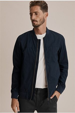 COUNTRY ROAD Washed Bomber Jacket - Navy