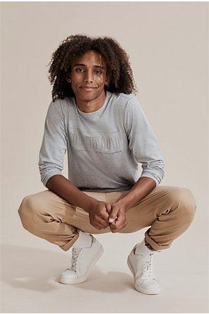 COUNTRY ROAD Kids Short Sleeve - Teen Verified Australian Cotton Heritage T-Shirt - Light Marle