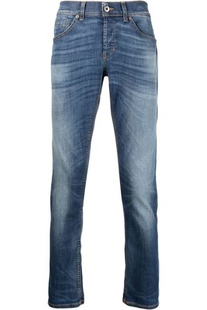 Dondup Whiskered-thigh bleach-wash jeans