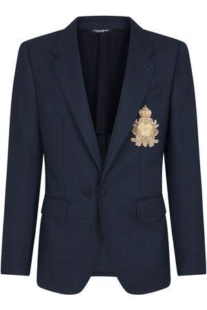 Dolce & Gabbana Men Blazers - Logo-badge blazer