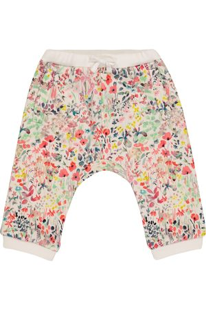 BONPOINT Baby floral cotton-jersey trackpants