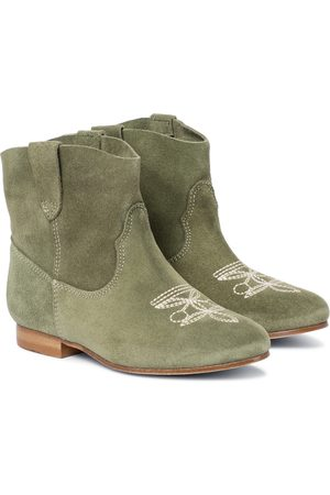 BONPOINT Women Cowboy & Biker Boots - Texas embroidered suede boots