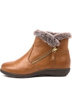SUPERSOFT Karper Su Dk Tan Dk Boots Womens Shoes Casual Ankle Boots