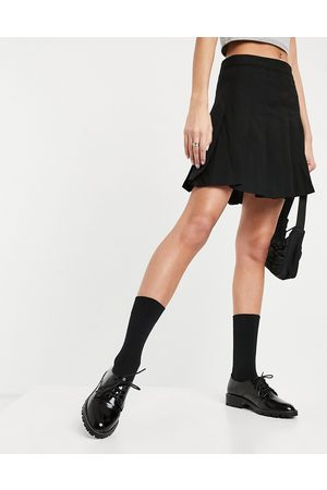 Miss Selfridge Lace up brogues in black