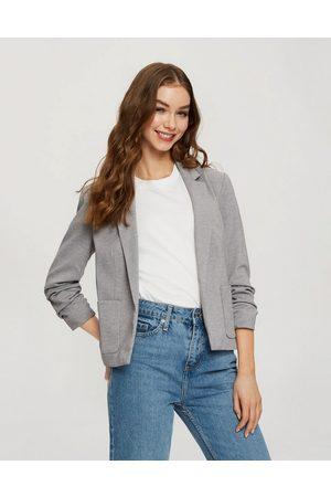 Miss Selfridge Patch pocket ponte blazer in grey