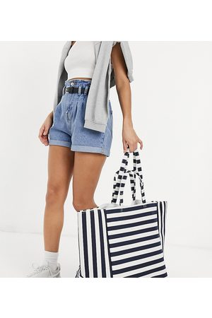 South Beach Striped tote in navy and cream stripe