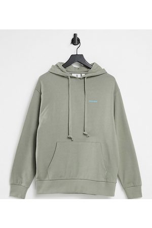 COLLUSION Unisex logo hoodie in khaki-Green