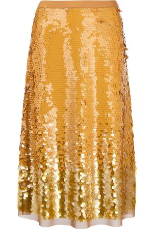 Tory Burch Sequin-embellished high-waist skirt