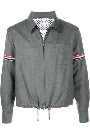 Thom Browne Striped zip-up shirt jacket