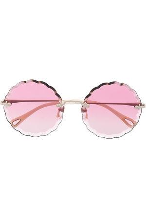 Chloé Rosie round frame metal sunglasses