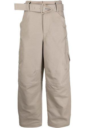 Bottega Veneta Women Pants - Belted cotton trousers