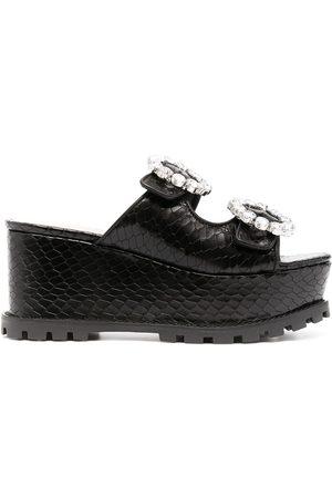 Schutz Crystal-embellished sandals