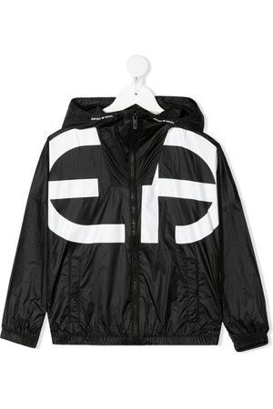 Emporio Armani Logo-print hooded jacket