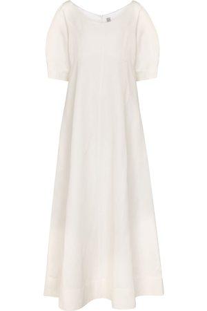 Totême Exclusive to Mytheresa – Linen and cotton-blend midi dress