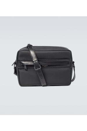 Saint Laurent Camp canvas and leather camera bag