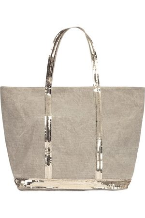 Vanessa Bruno Linen and Sequins L zipped Cabas Tote