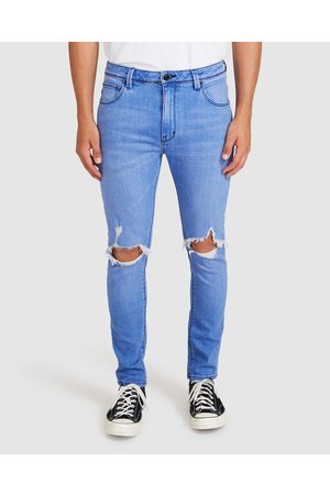 ABrand Men Skinny - A Dropped Skinny Turn Up Jeans Kos Ripped