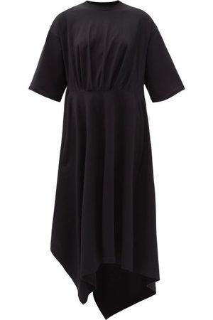 Balenciaga Asymmetric-hem Cotton-jersey T-shirt Dress - Womens