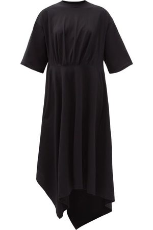 Balenciaga Women Asymmetrical Dresses - Asymmetric-hem Cotton-jersey T-shirt Dress - Womens