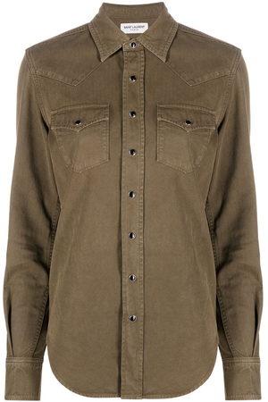 Saint Laurent Snap-fastening western shirt