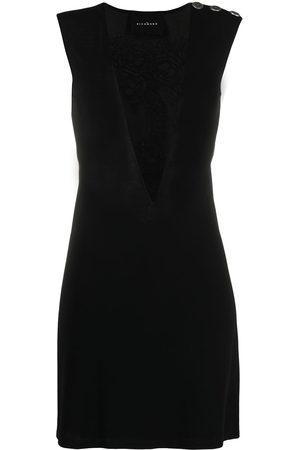 John Richmond Women Midi Dresses - Button-detail sleeveless midi dress